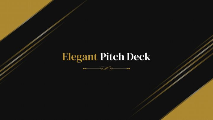 Elegant Pitch Deck presentation template