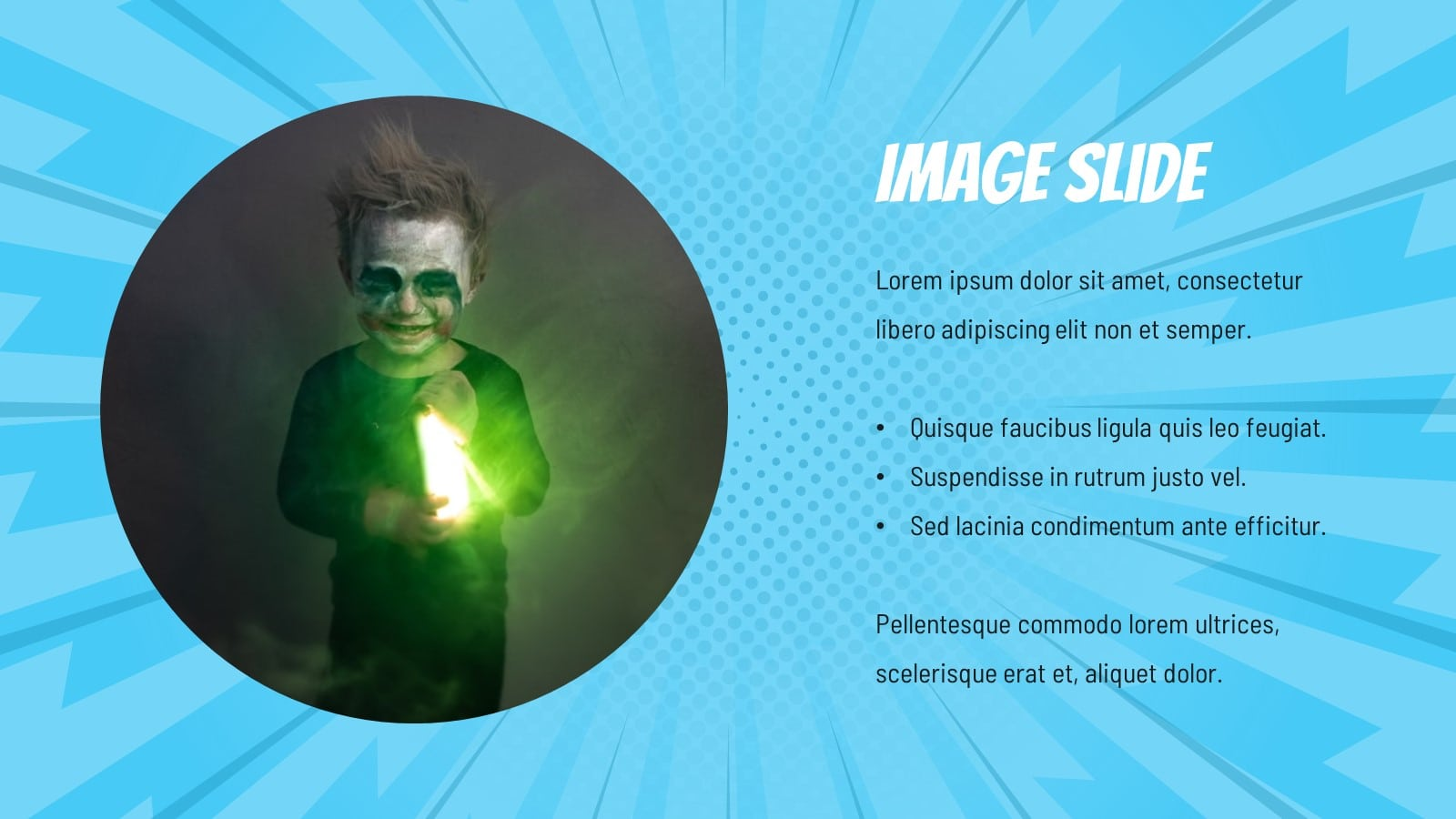 Comic Superhero presentation template