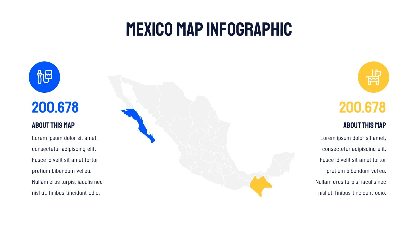 Mexico Map Infographic presentation template