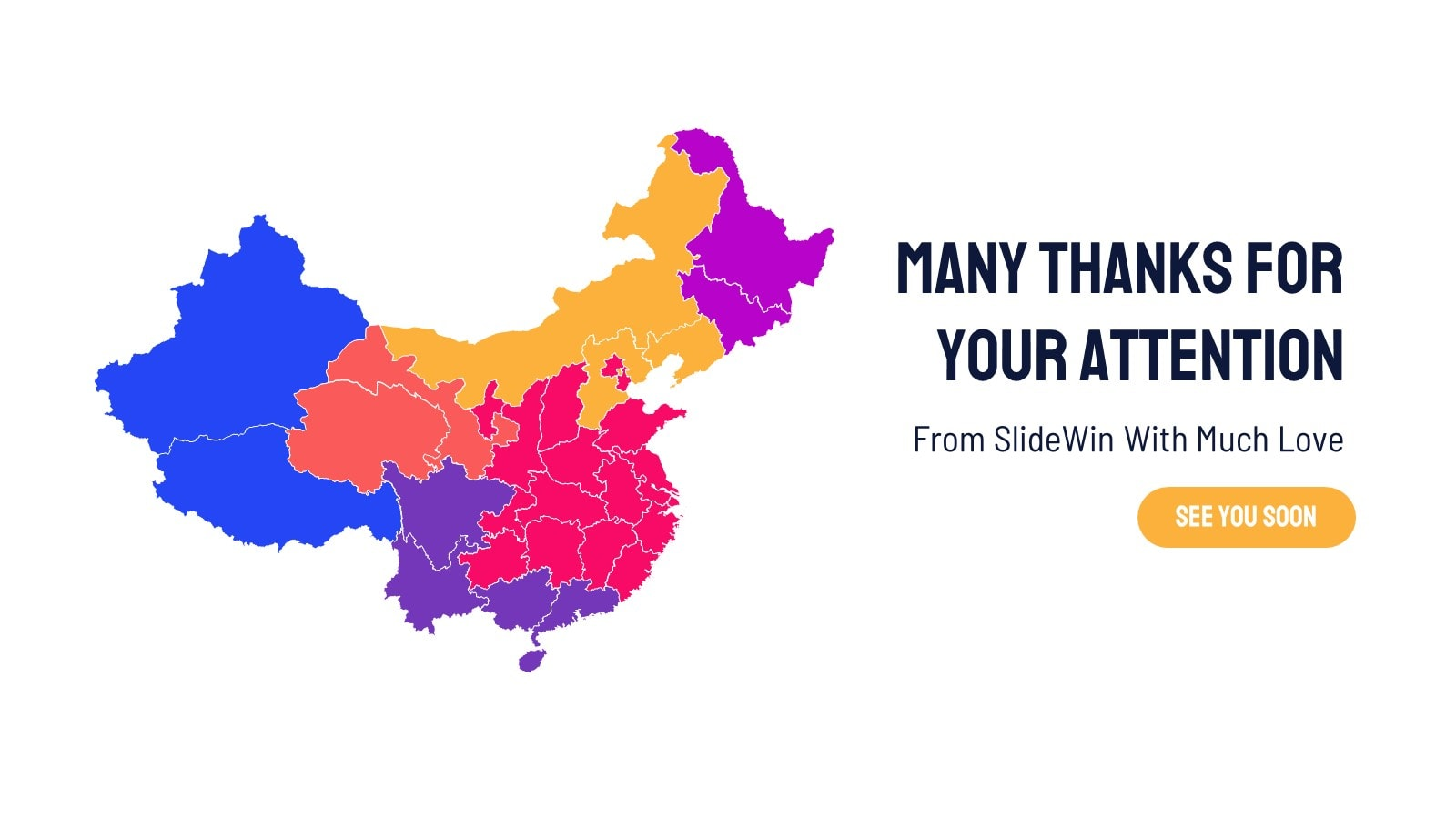 China Map Infographic presentation template