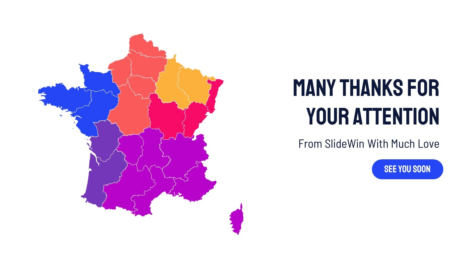 France Map Infographic presentation template